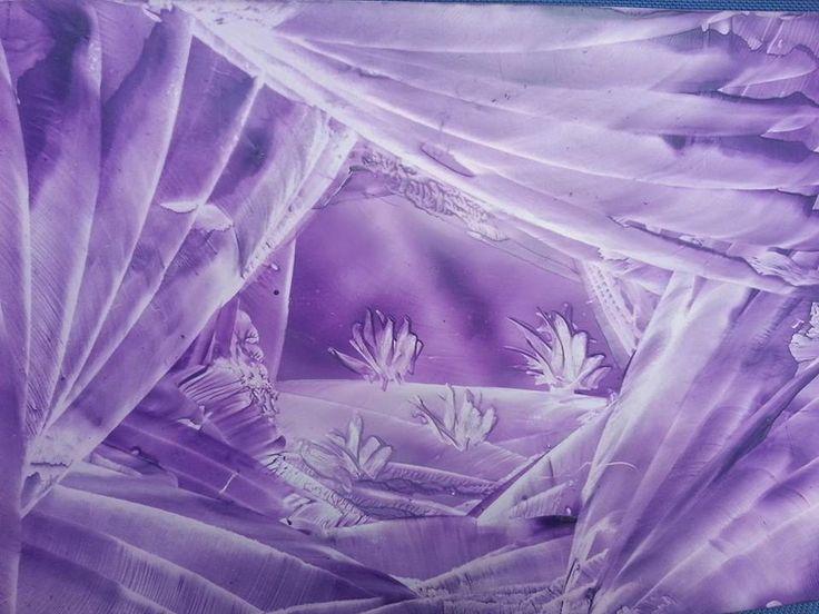 Enkaustika+fialová+romantika+Rozměr+21x15