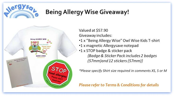 Allergy Awareness Childrens Pack Giveaway  www.allergysave.com
