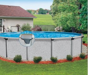 Regatta 18 ft Round Above Ground Pool with Liner and Skimmer - Pool  Supplies Canada