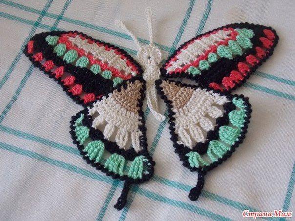 Butterfly Motif - Free Crochet Diagram - (stranamam)