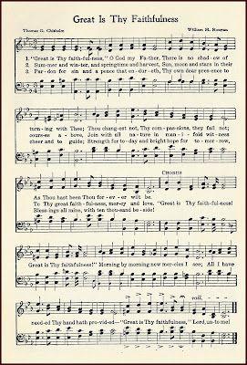 Hymn Great is Thy Faithfulness ~ free printable.