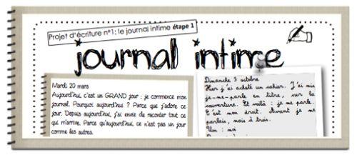 Projet d'écriture - le journal intime