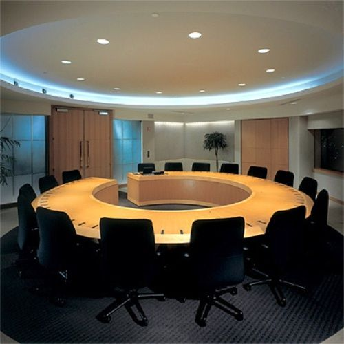 Round Board Room Table Custom Round Open Boardroom Table