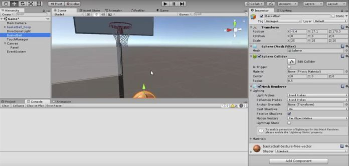 Unity Android How to make a 3D basketball game in 1 hour