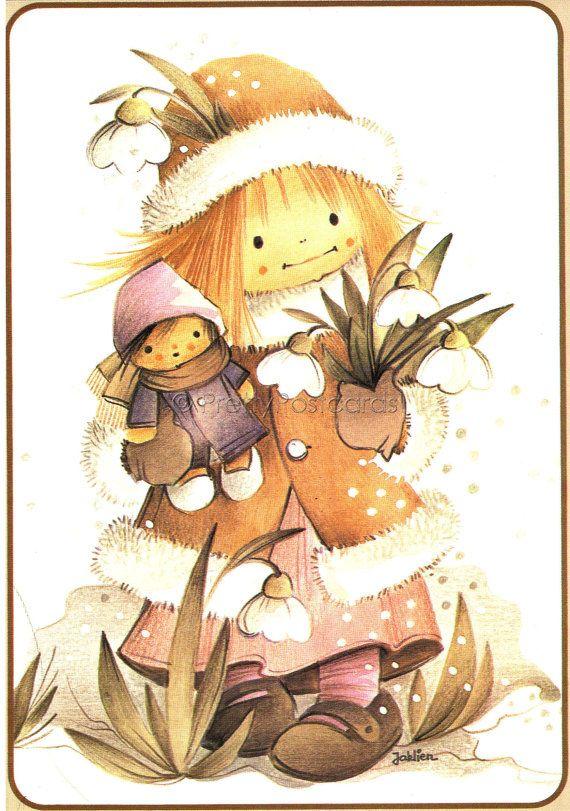 By Jaklien Moerman.  I love the small dolls Jaklien Moerman's girls carry around. <3