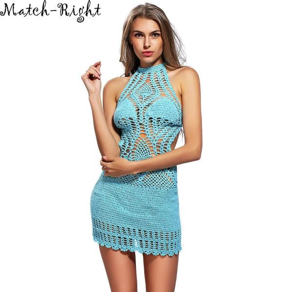 Crochet Beach Cover Up- Dress Only Available in Small