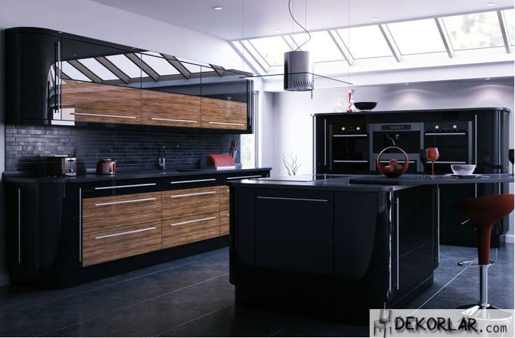 Siyah Mutfak Tasarımları | Dekorlar.com