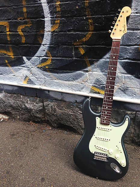 Image result for 2008 fender american standard stratocaster charcoal frost metallic