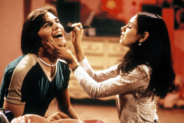 Ashton Kutcher and Mila Kunis, That '70s Show The new couple, who were friends for years before they started dating this past spring, played lovebirds Kelso and Jackie on the sitcom, which ran from 1998 to 2006.