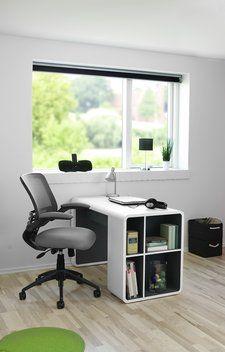 Skrivebord TERNDRUP hvid/grå | JYSK
