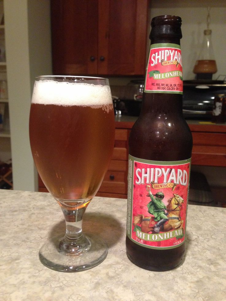 Shipyard Melonhead:  Day 66: Shipyard Melonhead from Shipyard Brewing Company. Style of beer is 'American Wheat or Rye Beer'. ABV is 4.4%.   Read more at http://www.beerinfinity.com/beer-of-the-day-shipyard-melonhead/.