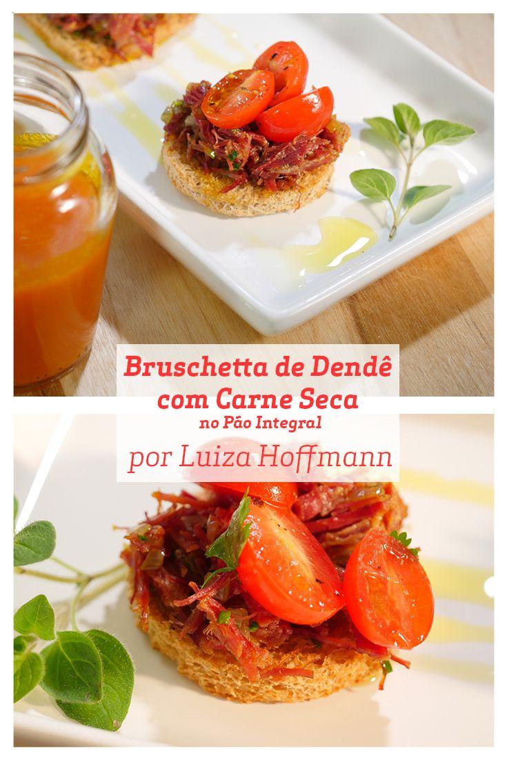 Uma Bruschetta com toque brasileiro é uma ótima pedida para o fim de semana.