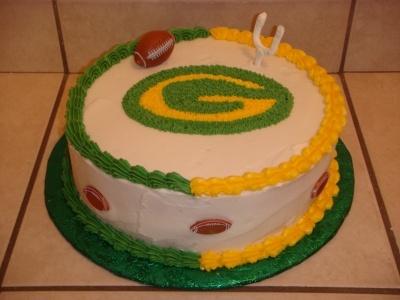 Green Bay Packers cake By jennilynn03 on CakeCentral.com @Ashly Eisenbacher