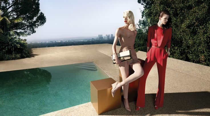 Set in the City of Angels skyline, Aline Weber e Meghan Collison channel the alluring clash of opposites. The seduction evoked in the sunset light campaign lensed by Camilla Åkrans.