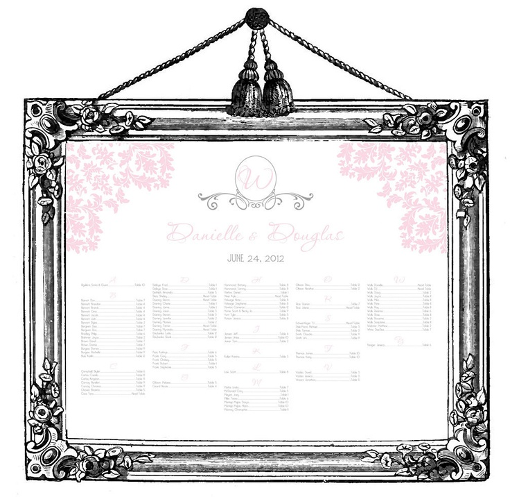 24 best seating chart images on Pinterest Wedding stuff, Wedding - free printable seating chart