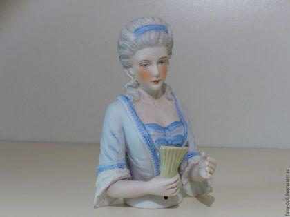 Очень большая кукла-половинка в интернет-магазине на Ярмарке Мастеров. Бронь. Потрясающая кукла половинка, выполнена из бисквитного фарфора. Её нужно подержать в руках, что бы понять на сколько она прекрасна. Очень высокое качество росписи. Произведена в Германии.