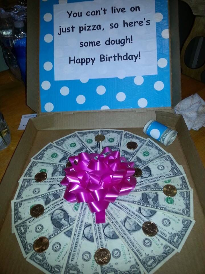 Money Pizza Happy Birthday Gifts For Family Gifts