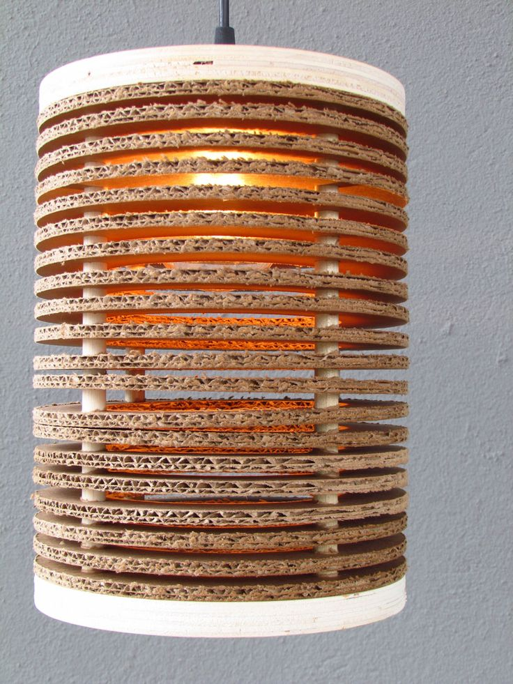 Guess What It Is ... Corrugated Cardboard Pendant. Lampshade IdeasDiy ...