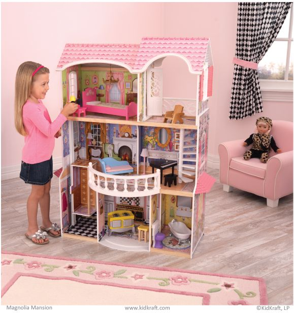 Kidkraft Magnolia Mansion Dollhouse,The Magnolia Mansion Dollhouse Is Like  Something Out Of A Fairy Tale, Complete With Elegant Artwork And  Old Fashioned ...