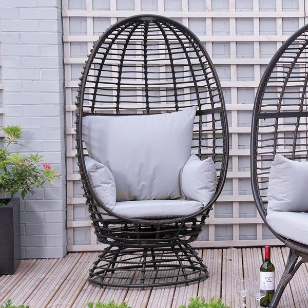 Groovy Sharee Outdoor Egg Garden Chair With Cushions Outdoor Andrewgaddart Wooden Chair Designs For Living Room Andrewgaddartcom