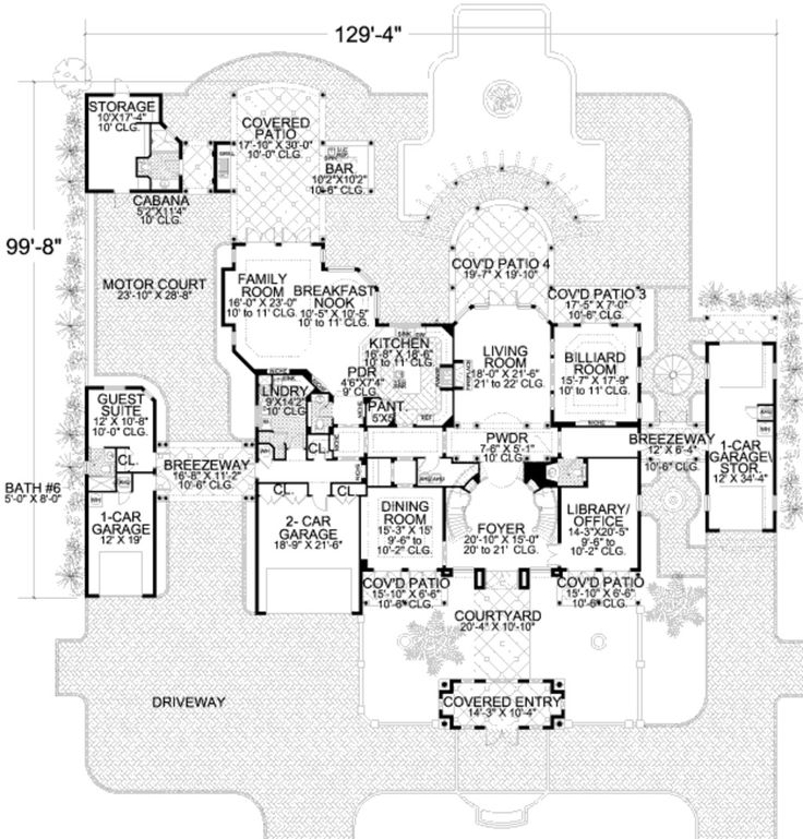 Luxury Home Plans Floor Plans And Breezeway On Pinterest