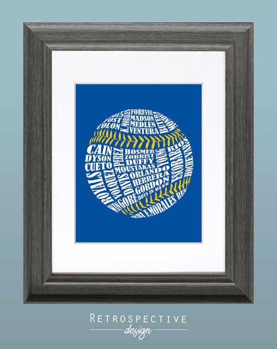 2015 KC Royals Baseball 8x10 Inch Printable by RetrospectiveDesign