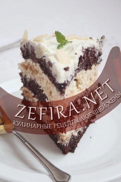 Шоколадный торт с безе — Кулинарные рецепты любящей жены