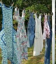 The wash....overalls and aprons!!