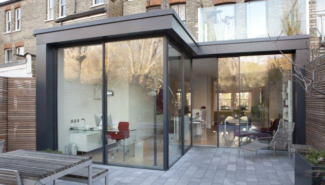 Love this modern extension on this edwardian house
