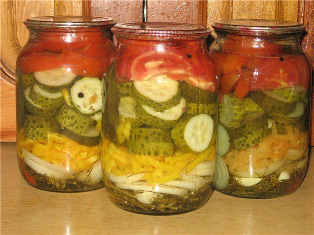рецепты салатов на зиму с фотографиями