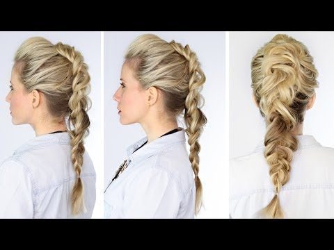 Dutch Faux Hawk Braid tutorial video.   FYI: The model in video has hair extensions.       For even more exaggerated height, tease the hair down the middle first so the braid is fuller but smooth the sides when braiding for a bolder contrast.