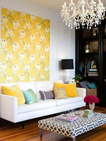 eclectic decorating | Eclectic decor  Walpaper as art
