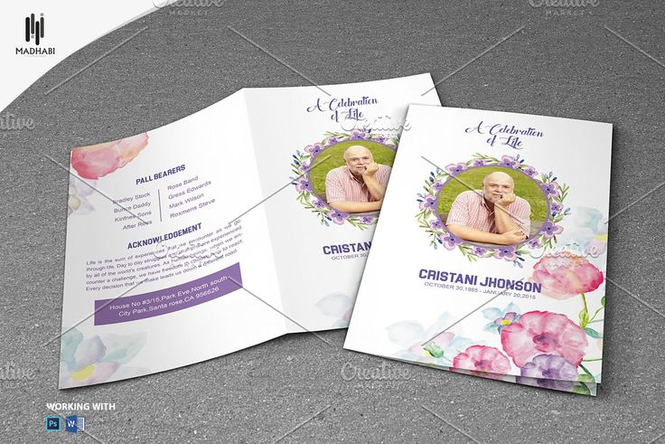 Printable Program Templates] Wedding Program Templates Greenery ...