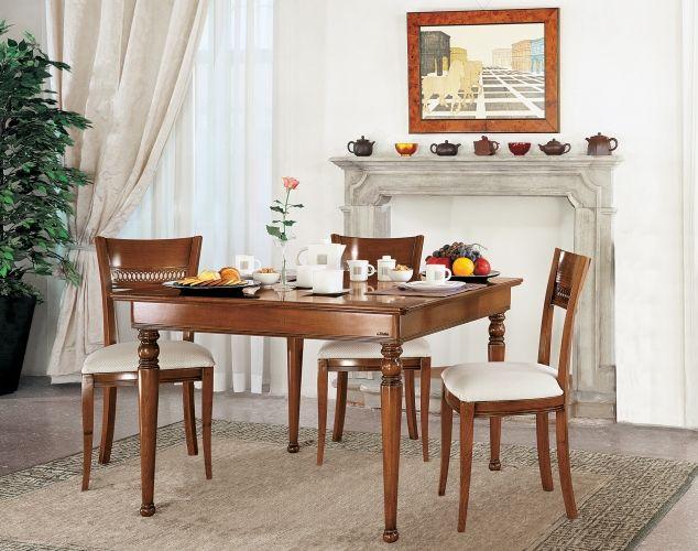 Corniola   Le Gemme | Classic Collections Le Fablier | Square Extendable  Table | Measures In