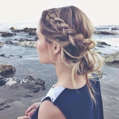 Braid Boho Updos for Long Hair
