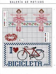 bicicleta en punto de cruz - Buscar con Google