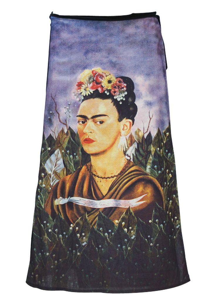 Art Wrap Skirt Frida Kahlo