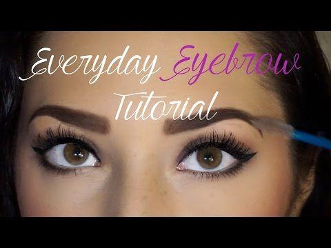 Everyday Eyebrow Routine!♡ Using ELF Eyebrow Kit| Tutorial | Dallis Jett ♡ - YouTube