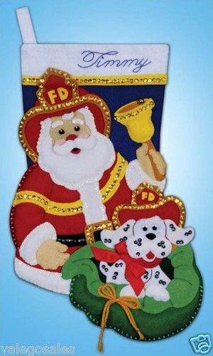 Design Works #Felt #Applique #Embroidery #FIREMAN #Stocking ♥ #ebay #sale…