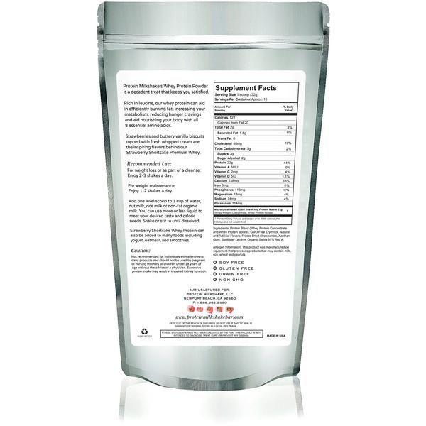 Protein Milkshake Strawberry Shortcake Low Carb Premium Whey Protein Powder