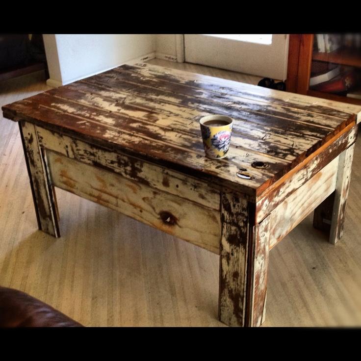 Handmade Rustic Coffee Table From Old Door. Part 23