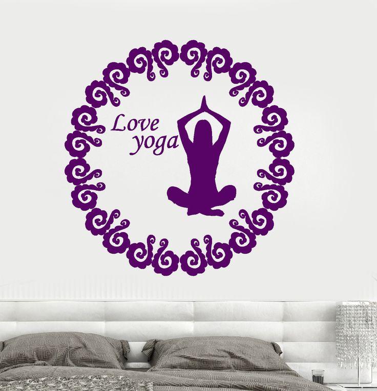 Vinyl Wall Decal Yoga Love Buddhism Meditation Room Bedroom Decor Stickers (033ig)