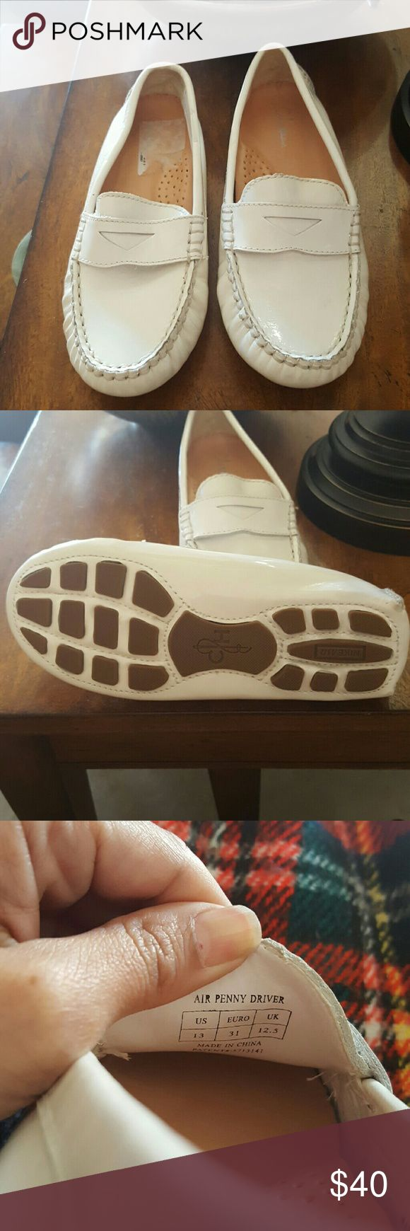 Cole Haan Air Penny drivers white Patent girls 13 Cole Haan Nike Air Girls white patent leather loafers Size 13  NEW NO BOX   TRIED TO REMOVE STICKER OFF INSOLE  NO TRADES  NO LOWBALL OFFERS  NO NEGOTIATING OVER COMMENT, USE OFFER BUTTON Cole Haan Shoes Moccasins