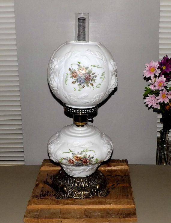 Vintage Double Globe Lamp Gone With The Wind Hurricane