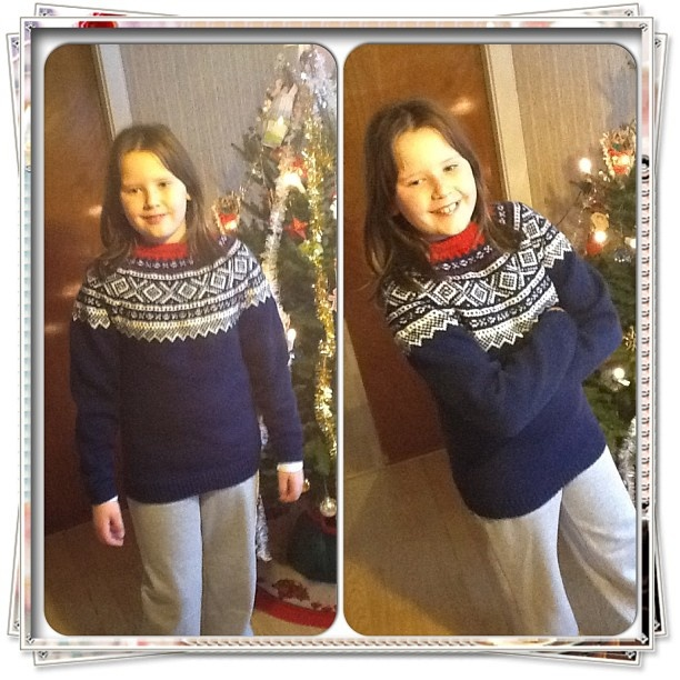 Marius sweater for my daughter Ingrid. She loves it <3