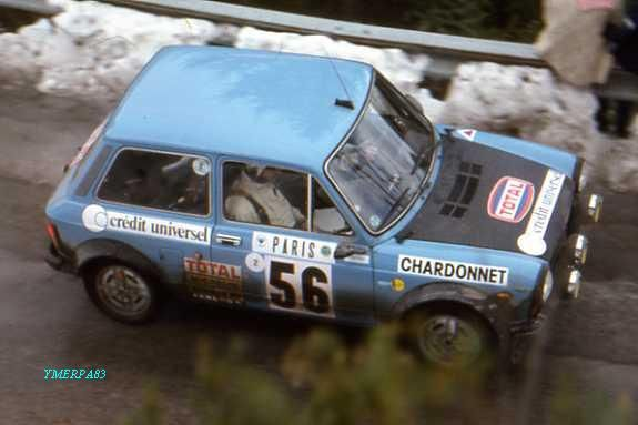 1977 Monte Carlo (Laurent - Marche)  Autobianchi A112