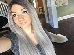 Superwigy® Long Straight Hair Two Tone Black and Grey review