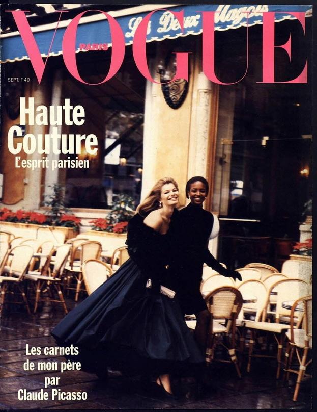 Naomi Campbell en couverture du numéro de septembre 1989 de Vogue Paris