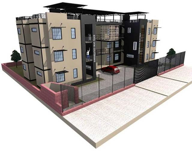 40ft containers converted into homes. Affordable housing in South Africa