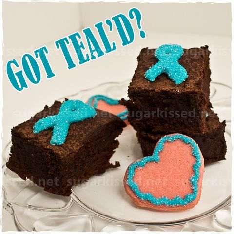 Ovarian Cancer Awareness Treats - and how to make the teal ribbon